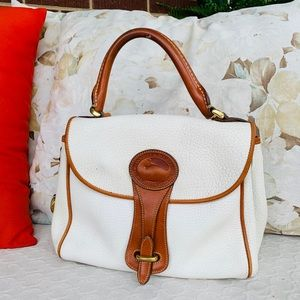 Dooney & Bourke Vintage Ivory Pebble Leather Bag